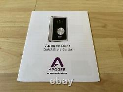 Apogee Duet USB Audio Interface for IOS, Mac Used Only Once