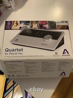 Apogee Quartet Professional Audio interface No Cosmetic Issues Barely Used