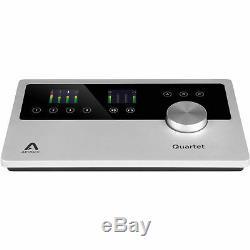 Apogee Quartet USB Audio Portable Home Studio Recording Interface for iOS Mac