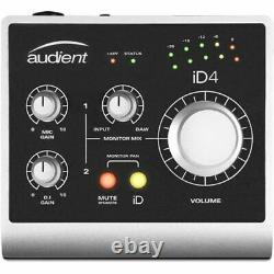 Audient iD4 2 In 2 Out USB Audio Interface With Scroll Control INCLUDES OV