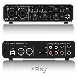 Behringer U-PHORIA UMC204HD USB Audio Interface with MXL Microphone Set