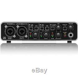 Behringer U-Phoria UMC204HD 2-in 4-out USB 2.0 Audio Interface with MIDAS Preamps