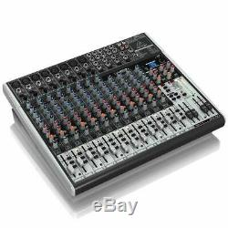 Behringer XENYX Mixer 22-Kanal 2/2 Bus Mischpult Mic Preamps USB Audio Interface