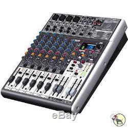 Behringer Xenyx X1204USB 12-Input 2/2-Bus Mixer Mac Windows USB Audio Interface