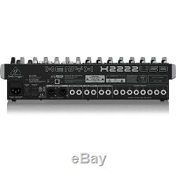 Behringer Xenyx X2222USB 22-Input USB Audio Mixer Recording Interface with Effects