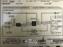 Cakewalk (Edirol) Roland UA-25EX USB Audio Capture Interface 24Bit / 96kHz