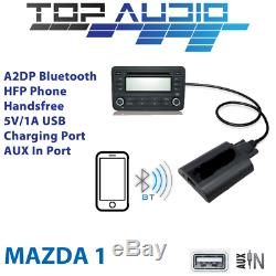 Car Bluetooth USB AUX Input hands free A2DP Audio Kits Interface Adaptor Mazda 1