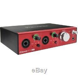Focusrite Clarett 2Pre USB 10-In / 4-Out USB Audio Interface
