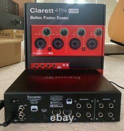 Focusrite Clarett 4 Pre USB Audio Interface Mint/As New Boxed