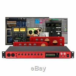 Focusrite Clarett 8Pre USB Studio Audio MIDI Interface + Softube & Ableton