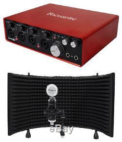 Focusrite SCARLETT 18I8 2nd Gen 192kHz USB Audio Recording Interface+Mic+Shield