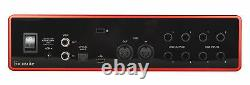 Focusrite SCARLETT 18I8 3rd Gen USB Audio Recording Interface+Boom Arm+Cable
