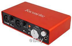 Focusrite SCARLETT 2I2 2nd Gen 192KHz USB 2.0 Audio Interface with Pro Tools First