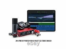 Focusrite SCARLETT 2I2 STUDIO 3rd Gen 192KHz USB Audio Interface+Mic+Headphones