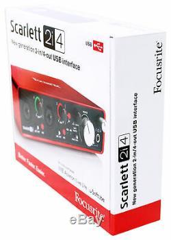 Focusrite SCARLETT 2I4 2nd 192kHz USB Audio Recording Interface+Pro Tools First