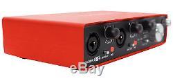 Focusrite SCARLETT 2I4 MK2 192kHz USB Audio Recording Interface+Pro Tools First