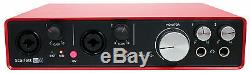 Focusrite SCARLETT 6I6 2nd 192kHz USB Audio Recording Interface+Pro Tools First