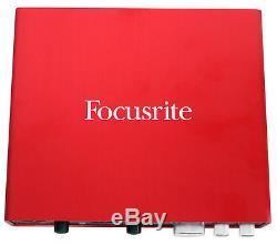 Focusrite SCARLETT 6I6 2nd Gen 192kHz USB Audio Recording Interface+Studio Mic
