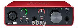 Focusrite SCARLETT SOLO 3rd Gen 192kHz USB Audio Interface withPro Tools First