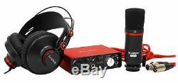 Focusrite SCARLETT SOLO STUDIO 2nd 192KHz USB 2.0 Audio Interface+Mic+Headphones