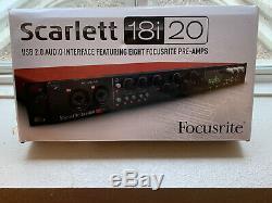 Focusrite Scarlett 18i20 2 Channel USB Audio Interface