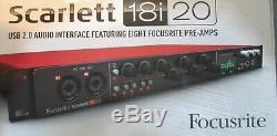 Focusrite Scarlett 18i20 USB 2 Audio Interface 8 Pre Amps/ Scarlett Mixcontrol