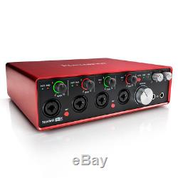 Focusrite Scarlett 18i8 2nd Gen 18 In/8 Out USB 2.0 Audio Interface with Protools