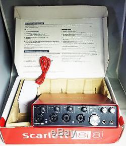 Focusrite Scarlett 18i8 2nd Generation USB Audio Interface USED MINT