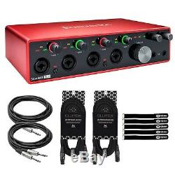 Focusrite Scarlett 18i8 3rd Generation USB Audio Interface with Cables Package