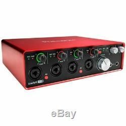 Focusrite Scarlett 18i8 USB Audio Interface 18-in/8-out, 24-bit/192kHz