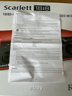 Focusrite Scarlett 18i8 USB Audio Interface 3rd Generation
