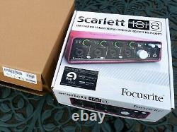 Focusrite Scarlett 18i8 USB Audio Interface Excellent condition with box, etc