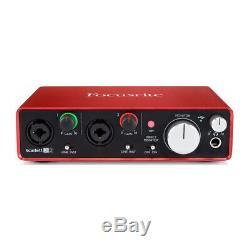 Focusrite Scarlett 2i2 (2nd Gen) USB 2.0 Audio Interface + Ableton Pro Tools DAW