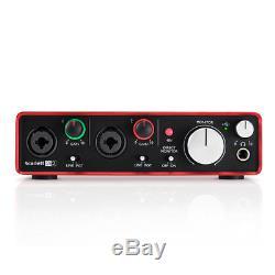 Focusrite Scarlett 2i2 2nd Gen USB 2.0 Audio Recording Interface with Protools