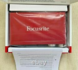 Focusrite Scarlett 2i2 (2nd Gen) USB Audio Interface with Pro Tools