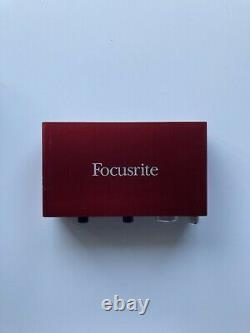 Focusrite Scarlett 2i2 2nd generation USB audio interface