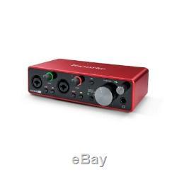 Focusrite Scarlett 2i2 2x2 USB Audio Interface 3rd Gen for Singer/Songwriters