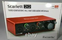 Focusrite Scarlett 2i2 3rd Gen Professional USB Audio Interface First Class Deli