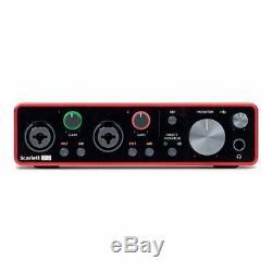 Focusrite Scarlett 2i2 3rd Gen USB Audio Interface + Ableton, Pro Tools & More