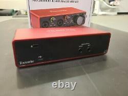 Focusrite Scarlett 2i2 3rd Generation USB Audio Interface with box