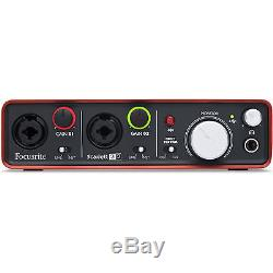 Focusrite Scarlett 2i2 Portable USB Audio Interface