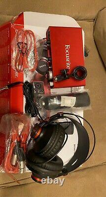 Focusrite Scarlett 2i2 Studio 2nd Gen USB Audio Interface Studio Pack