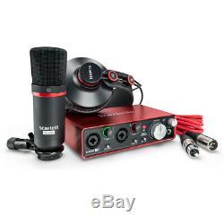 Focusrite Scarlett 2i2 Studio 2nd Gen USB Audio Interface Studio Recording Pack