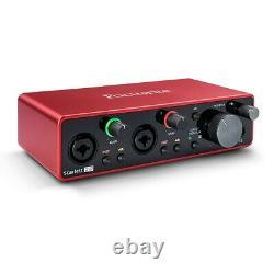 Focusrite Scarlett 2i2 Studio 3rd Gen 2-in, 2-out USB Audio Interface Bundle