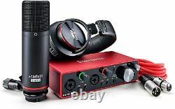 Focusrite Scarlett 2i2 Studio 3rd Gen 2x2 USB Audio Interface Bundle