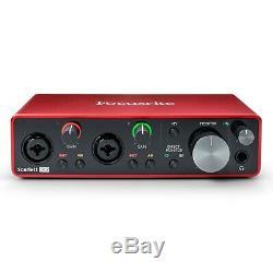 Focusrite Scarlett 2i2 Studio (3rd Gen) 2x2 USB Audio Interface Recording Bundle