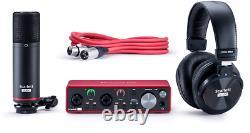 Focusrite Scarlett 2i2 Studio 3rd Generation USB Audio Interface Recording Set