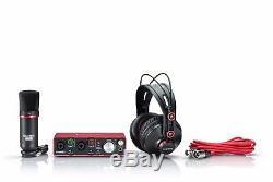 Focusrite Scarlett 2i2 Studio Recording Bundle with Pro Tools Behringer Speakers
