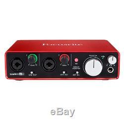 Focusrite Scarlett 2i2 USB Audio Interface (2nd Generation) with Pro Bundle