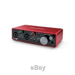 Focusrite Scarlett 2i2 USB Audio Interface 3rd Gen